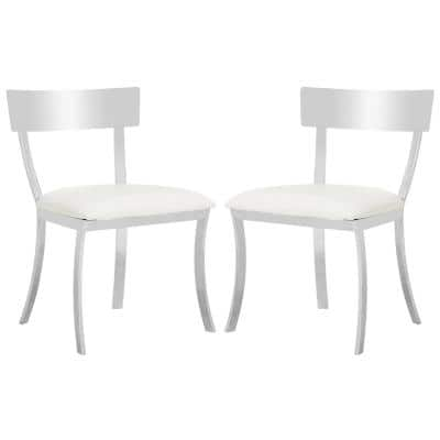 Abby White 19 in. H Side Chair (Set of 2)