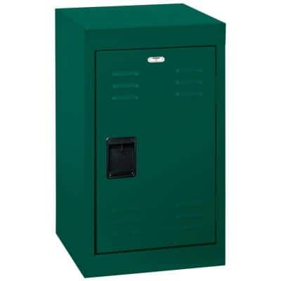 24 in. H Single-Tier Welded Steel Storage Locker in Forest Green