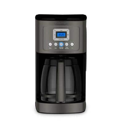 PerfecTemp 14-Cup Programmable Black Satinless Steel Drip Coffee Maker