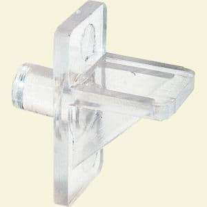 1/4 in., Clear Plastic, Locking Shelf Support Peg (8-pack)