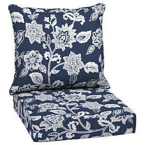 24 in. x 22.5 in. Sapphire Ashland Jacobean 2-Piece Deep Seating Outdoor Lounge Chair Cushion