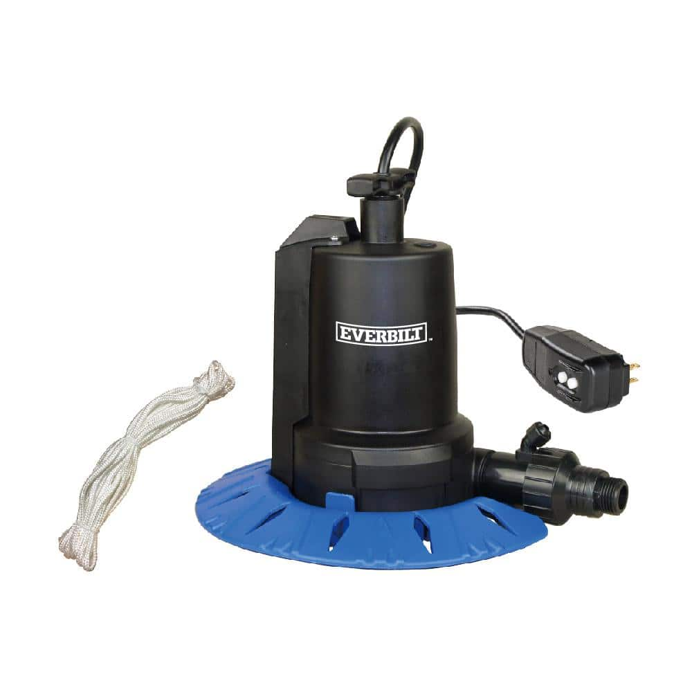 Everbilt 1 8 Hp Pool Cover Pump Ut08804 The Home Depot