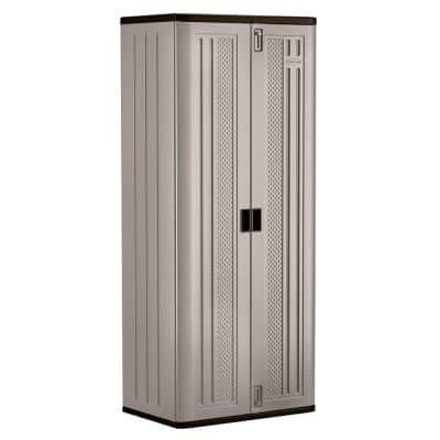 Resin Freestanding Garage Cabinet in Platinum (30 in. W x 72 in. H x 20 in. D)