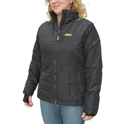Women's Xsmall 20-Volt MAX XR Lithium-Ion Black Quilted Jacket Kit with 2.0 Ah Battery and Charger