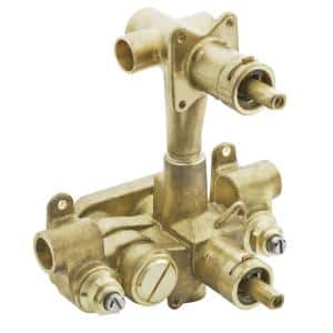 Moentrol Pressure-Balancing Volume-Control 3-Function Transfer Shower Valve with Stops - 1/2 in. IPS/CC Connection