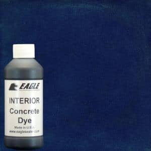 1 gal. Blue Berry Interior Concrete Dye Stain Makes with Water from 8 oz. Concentrate