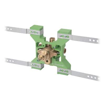 Temptrol Rapid Install Pressure-Balancing Tub and Shower Mixing Valve with VersaFlex Integral Diverter