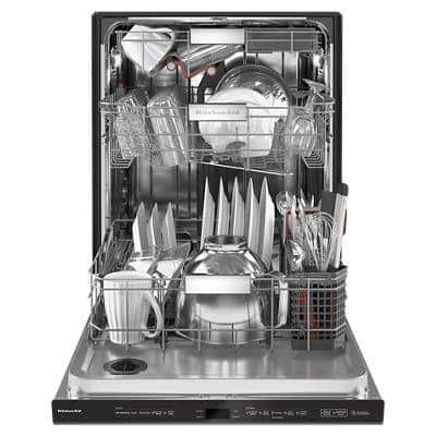 24 in. Black Stainless Top Control Built-in Tall Tub Dishwasher with Stainless Steel Tub and Third Level Rack, 44 dBA