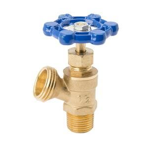 1/2 in. x 3/4 in. MPT x MHT Brass Boiler Drain Valve