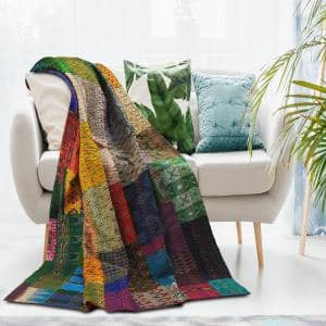 Traditional Multicolored Throw Blanket