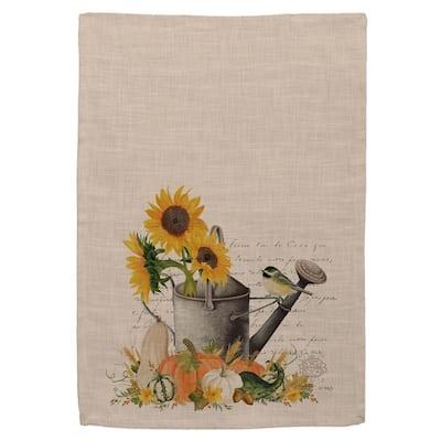 Autumn Garden Natural Garden Polyester Tea Towel Set (Set of 2)