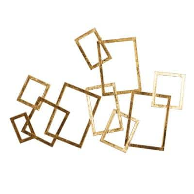 22 in. x 30 in. Gold Metal Contemporary Abstract Wall Decor