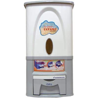 Rice Dispenser 55 lbs. Capacity in White