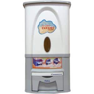 Rice Dispenser 55 lbs. Capacity in White