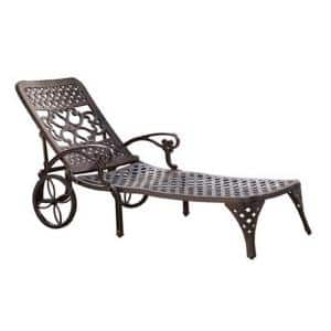 Sanibel Rust Bronze Cast Aluminum Outdoor Chaise Lounge