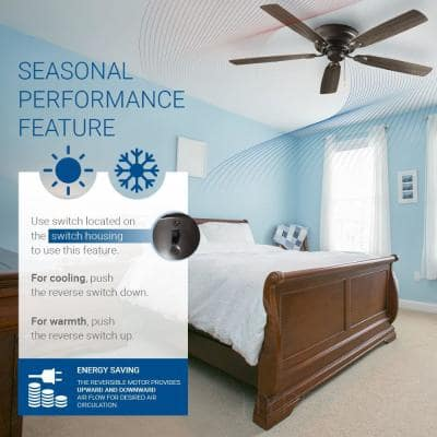 Pull Chain 52 in. Indoor Wood Brown Ceiling Fan
