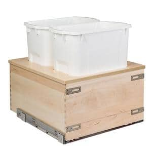 Baltic Birch 17-7/8 in. W Double 35 Qt. Waste Pull-Out Organizer