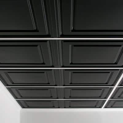 Stratford Feather-Light Black 2 ft. x 4 ft. Lay-in Ceiling Panel (Case of 10)