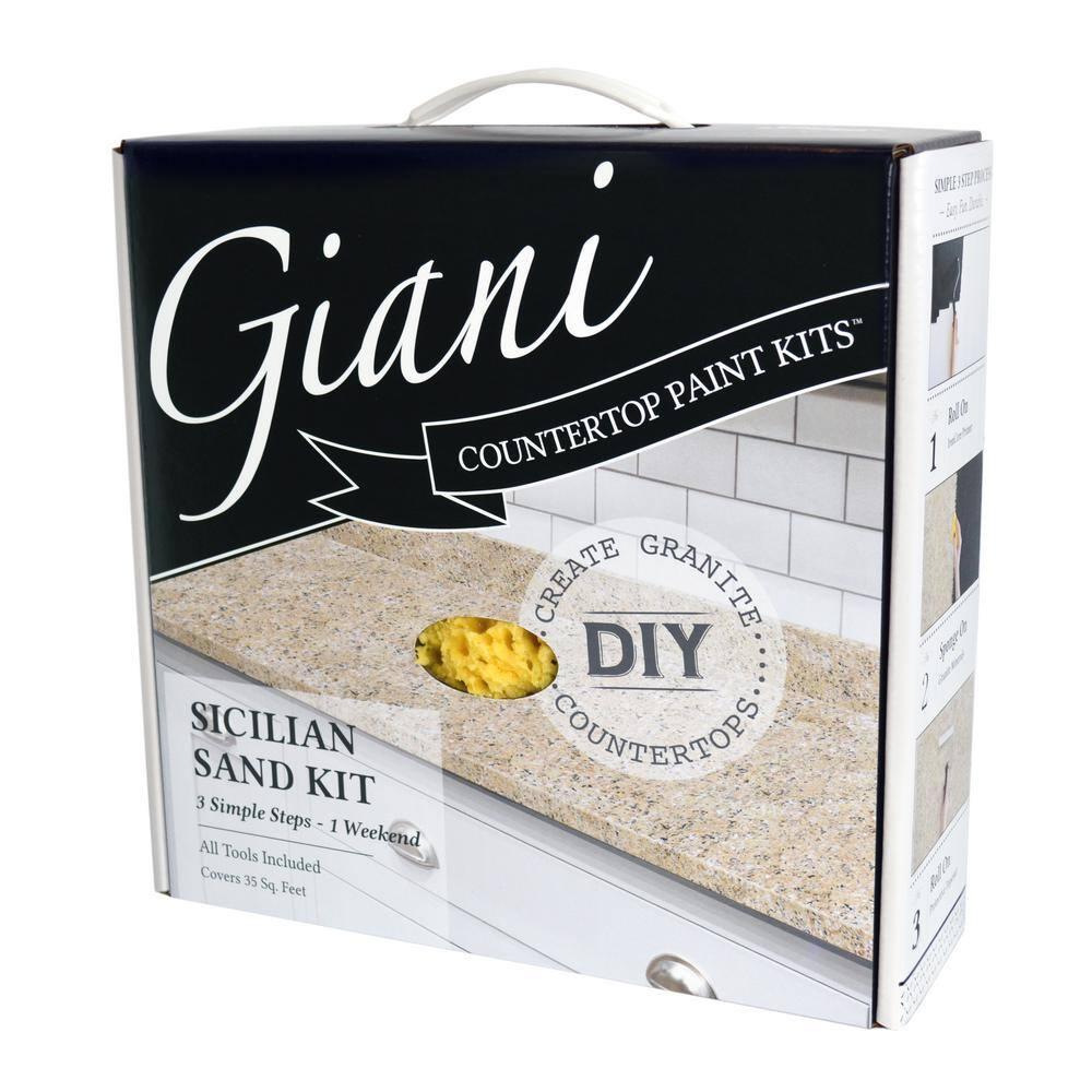 Giani Sicilian Sand Countertop Paint Kit Fg Gi Sicilain The Home Depot