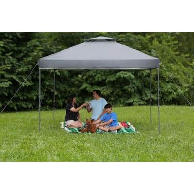 10 ft. x 10 ft. Grey Instant Canopy Pop Up Tent