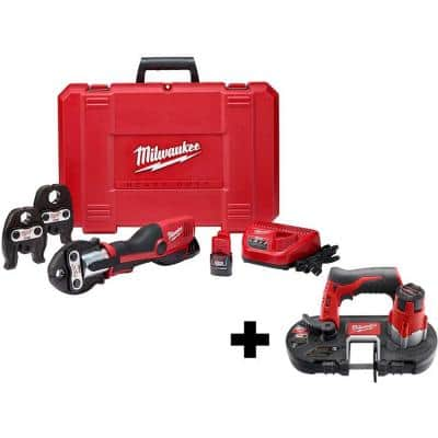 M12 12-Volt Lithium-Ion Force Logic Cordless Press Tool Kit with M12 Bandsaw