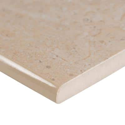 Aria Oro Bullnose 3 in. x 18 in. Polished Porcelain Wall Tile (15 lin. ft. / case)