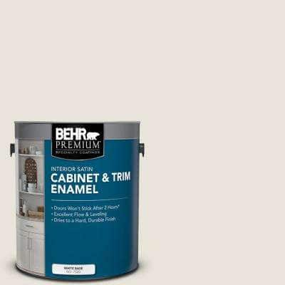 1 gal. #BWC-13 Smoky White Satin Enamel Interior Cabinet and Trim Paint