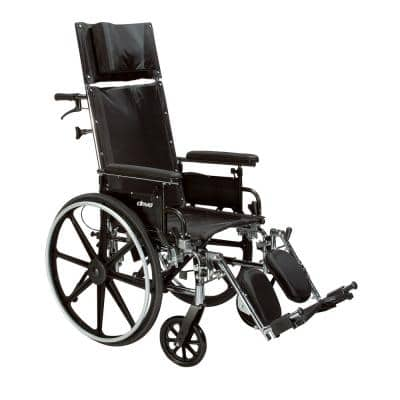 Viper Plus GT Full Reclining Wheelchair, Detachable Full Arms, 16 in. Seat