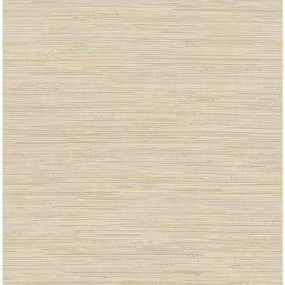 Tibetan Grasscloth Cream White Wallpaper Sample