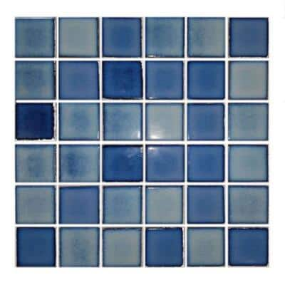 Monet Powder Blue 12 in. x 12 in. Mosaic Ceramic Wall Tile. (221.76 sq. ft./Pallet)