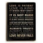 """9 in. x 12 in. """"Love is Patient"""" by Nancy Anderson Solid Wood Wall Art"""