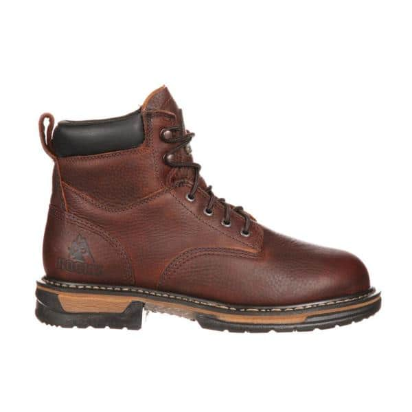 Rocky Men S Ironclad Waterproof 6 Inch Lace Up Work Boots Steel Toe Brown Size 14 W Fq0006696 The Home Depot