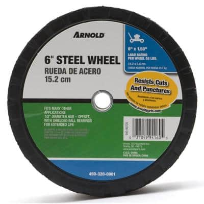 6 in. x 1.5 in. Universal Steel Wheel with Shielded Ball Bearings for Extended Life