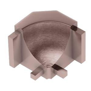 Dilex-AHK Brushed Copper Anodized Aluminum 1/2 in. x 1 in. Metal 90 Degree Inside Corner
