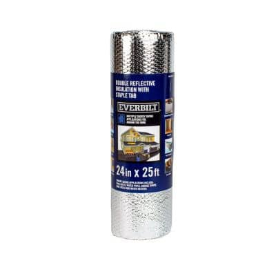 24 in. x 25 ft. Double Reflective Insulation Staple Tab