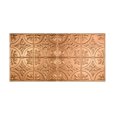 Traditional #2 2 ft. x 4 ft. Glue Up Vinyl Ceiling Tile in Polished Copper (40 sq. ft.)