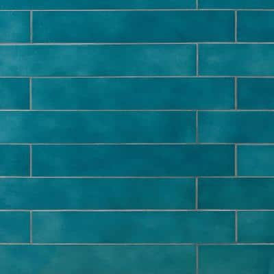 Appaloosa Carribean Blue 3 in. x 18 in. Porcelain Floor and Wall Tile (10.76 sq. ft./Case)