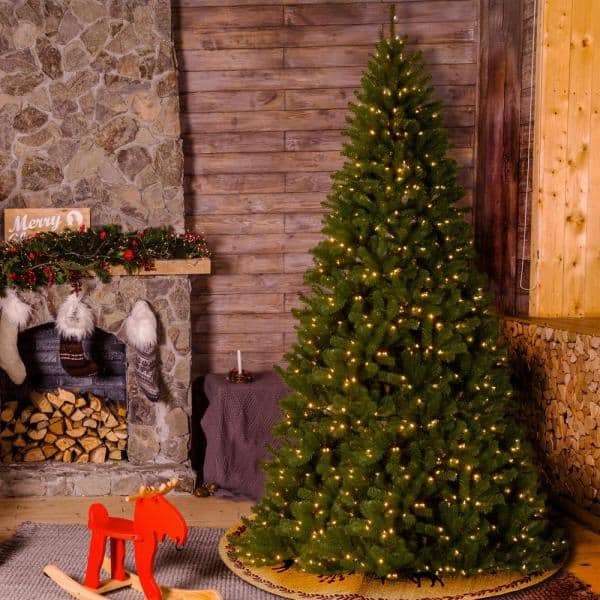 National Tree Company 12 Ft North Valley Spruce Artificial Christmas Tree With Clear Lights Nrv7 300 120 The Home Depot