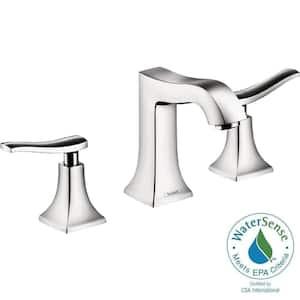 Metris C 8 in. Widespread 2-Handle Mid-Arc Bathroom Faucet in Chrome