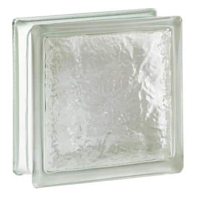 Cortina 4 in. Thick Series 8 x 8 x 4 in. Ice Pattern Glass Block (Actual 7.75 x 7.75 x 3.88 in.)