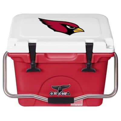 20 QT Cooler Red/White - Arizona Cardinals