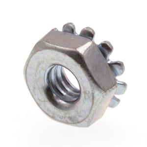 Everbilt 8 32 Zinc Plated Nylon Lock Nut 100 Pack 800292 The Home Depot