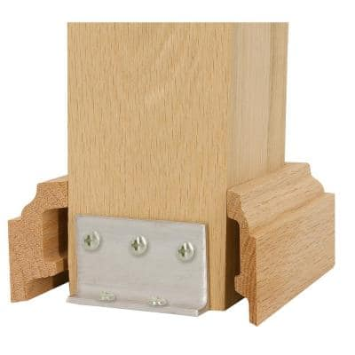 5 in. Unfinished Red Oak Box Newel Attachment Kit