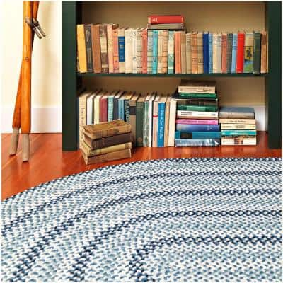 Winthrop Brick 5 ft. x 8 ft. Oval Braided Area Rug