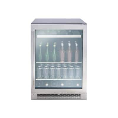 24 in. 7-Bottle and 112 Can Beverage Cooler with Single Temperature Zone and 39 DBA