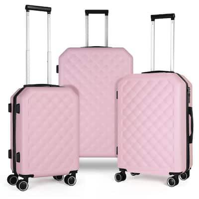 HIKOLAYAE Getaway Dual Wheels Spinner Set - Salmon Pink