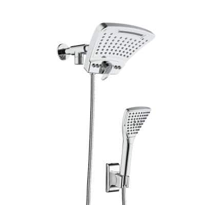 6-spray 8 in. High PressureDual Shower Head and Handheld Shower Head with Body spray in Chrome