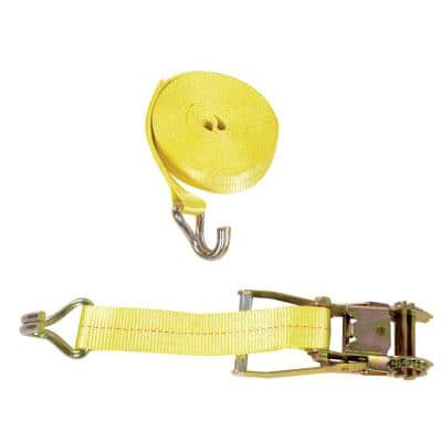 Ratcheting Cargo Strap with Rod Hook