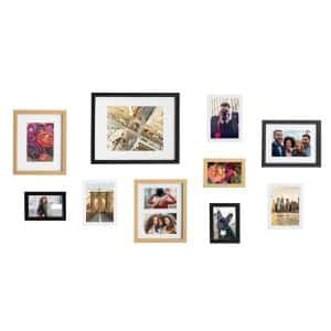 Gallery Multi/Gold Picture Frames (Set of 10)