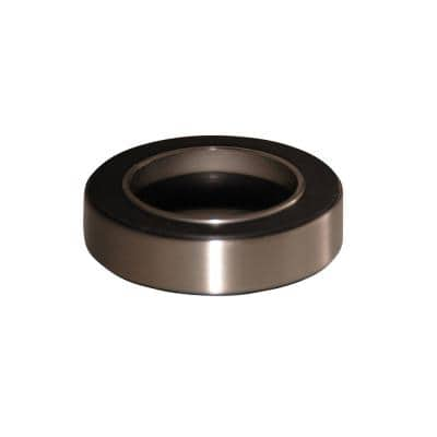 Mounting Ring for Umbrella Drain and Glass Vessel in Satin Nickel